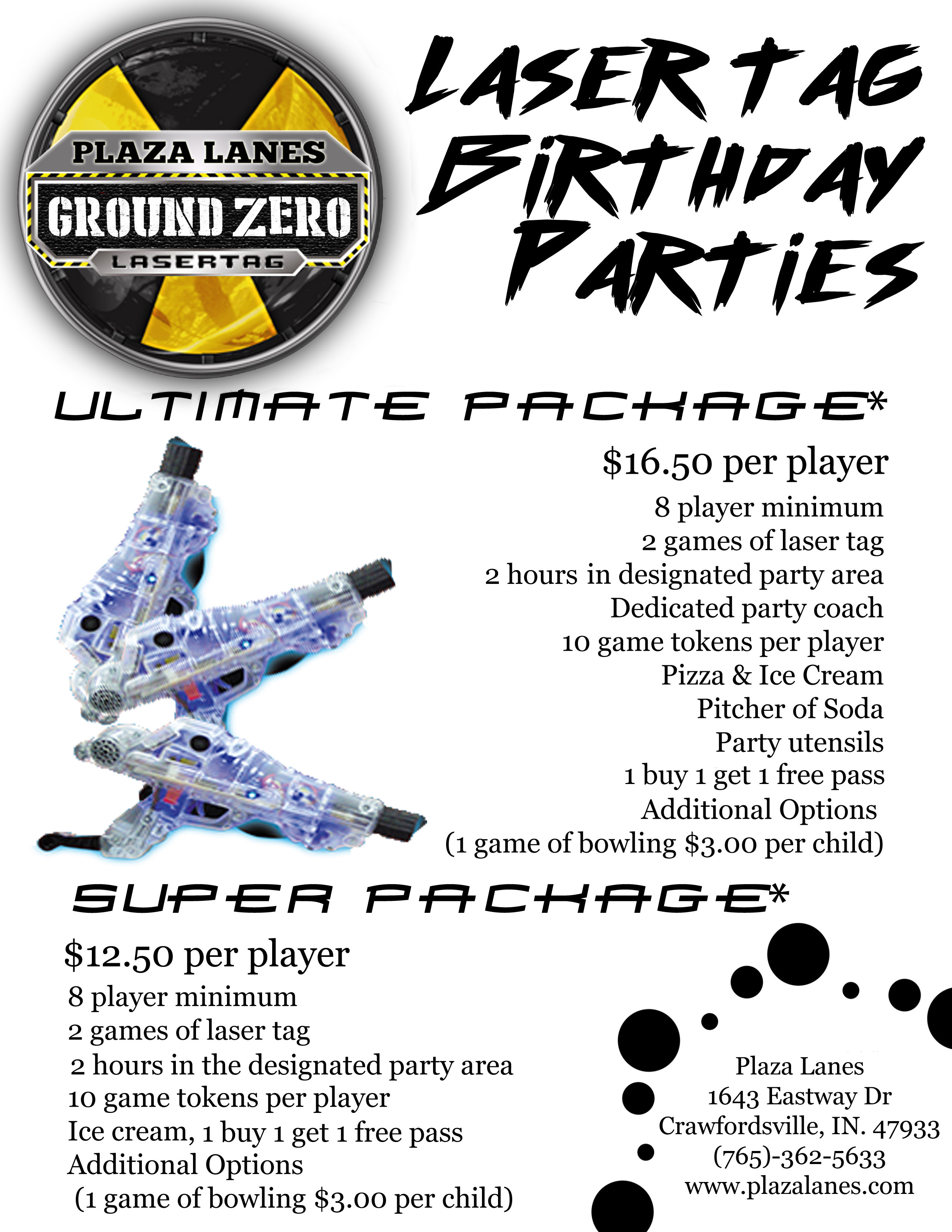 Ground Zero Birthday party flier